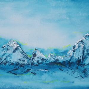 Akustikbild Wandgestaltung Berglandschaft