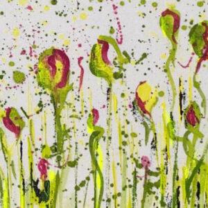Akustikbild floral