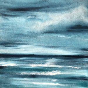 Akustikbild Meer blau