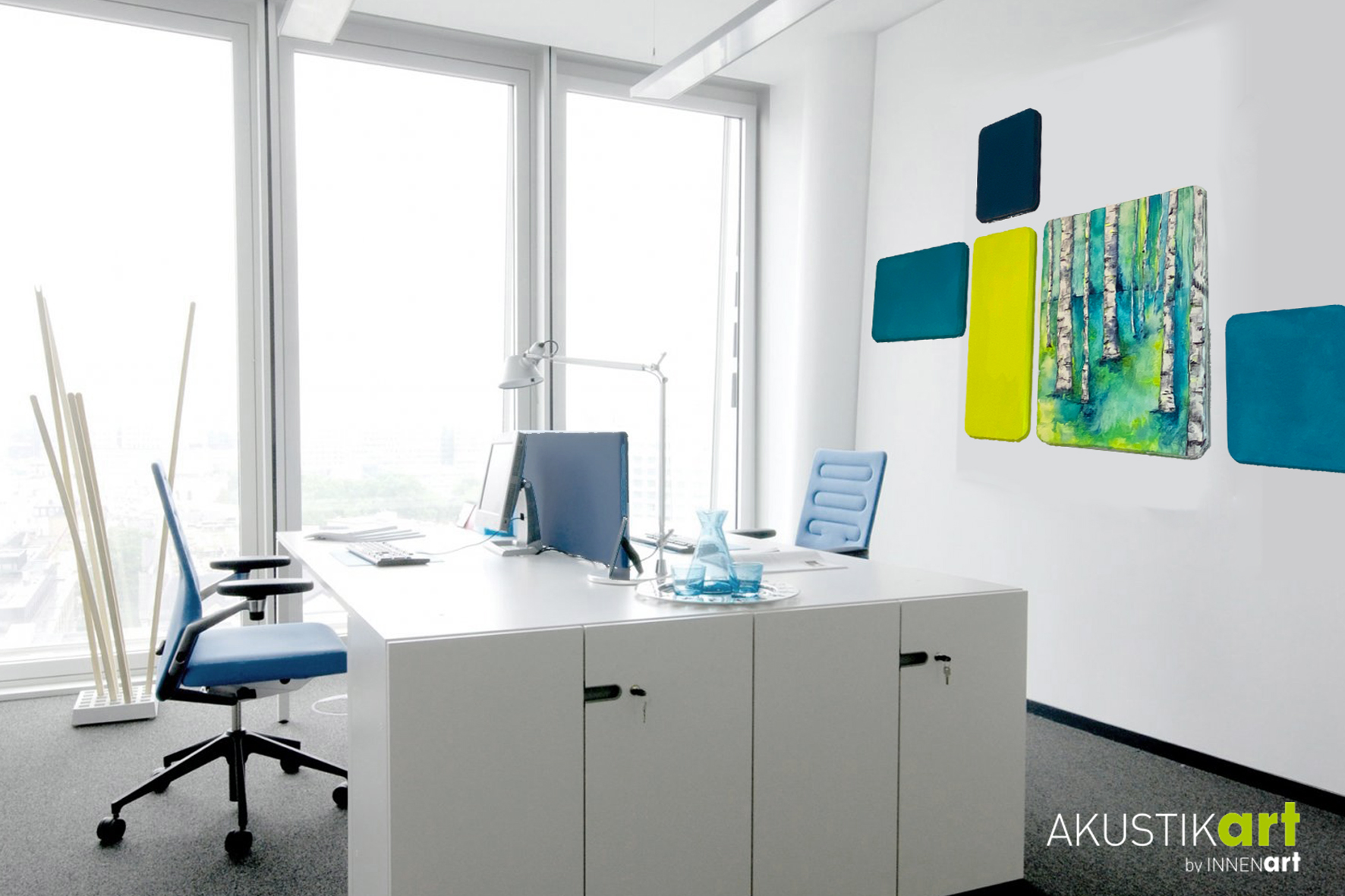 Akustik Wandgestaltung Büro